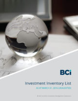 Download our Investment Inventory